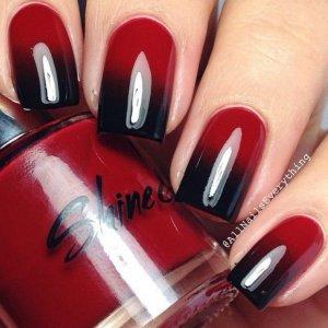 Черный с красным маникюр