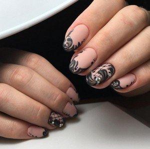 Модные тенденции матового дизайна ногтей