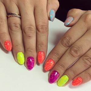 Стильные рисунки на ногтях