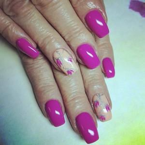 Цветы рисунки на ногтях