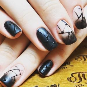 Модные тенденции черного маникюра гель лаком