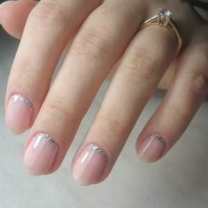 Ногти Френч С Рисунком Красивым Со Стразами