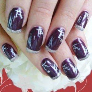 Восточные китайские иероглифы на ногтях фото
