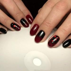 Камифубуки на ногтях