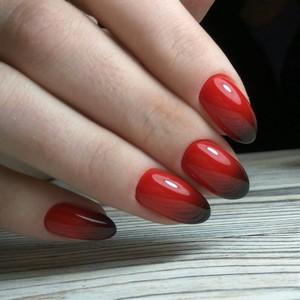 Маникюр Омбре на короткие ногти